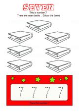 Trace Number 7 - Free Printable Worksheet