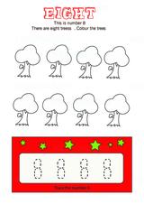 Trace Number 8 - Free Printable Worksheet