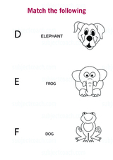 Match Alphabet to a Word to an animal
