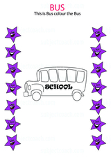 Vehicles: Color the bus
