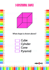 Two Dimensional - 3D Problem Worksheet #1