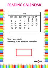 Calendar Problem Worksheet #3