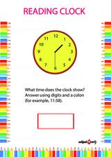 Analog Clock Reading Problem Worksheet #1