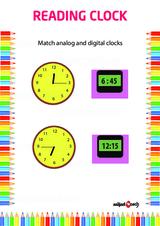 Analog Clock Reading Problem Worksheet #4