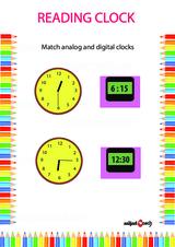 Analog Clock Reading Problem Worksheet #5