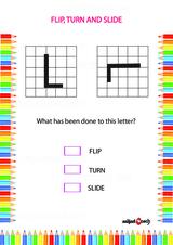 Flip, Turn or Slide Problem Worksheet #1