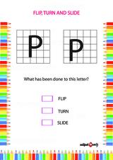Flip, Turn or Slide Problem Worksheet #3