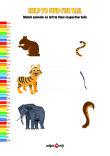 Match animals to their tails