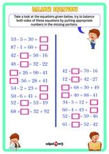 Balance the equations. Sheet 3.
