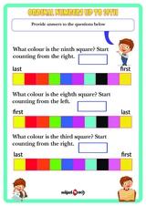 Ordinal numbers. Sheet 1.