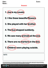 Identify and Circle Nouns in A SentenseIdentify and Circle Nouns in A Sentense/1
