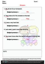 Identify Subject Pronouns in a Sentense/1