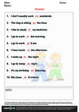 Prepositions At In On/1