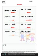 Unscramble Antonyms of Words/1