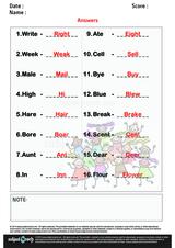 Write Homophone of each Word/1