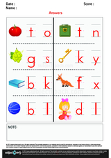 Write Beginning and Ending Sound Letter of Word Describing Picture/1