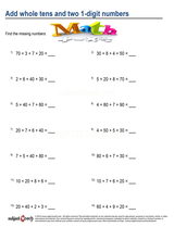 Whole Number Addition/sheet  (11)