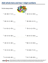 Whole Number Addition/sheet  (14)