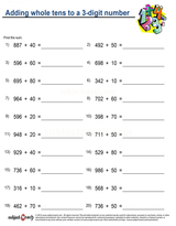 Whole Number Addition/sheet  (16)