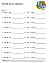 Whole Number Addition/sheet  (19)