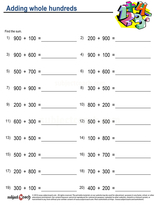 Whole Number Addition/sheet  (20)