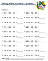 Whole Number Addition/sheet  (23)