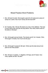 word problems/sheet 1