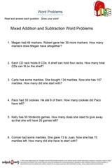 word problems/sheet 12