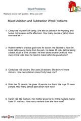 word problems/sheet 13