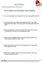 word problems/sheet 14