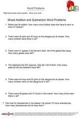 word problems/sheet 16