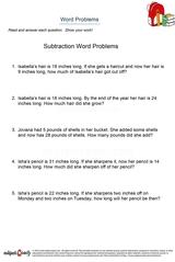 word problems/sheet 18