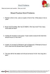 word problems/sheet 2