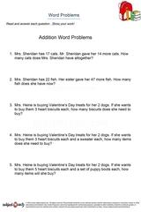 word problems/sheet 22