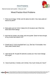 word problems/sheet 4
