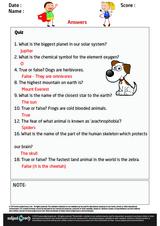 Science Quiz/1