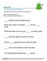 possessive pronoun/sheet 8