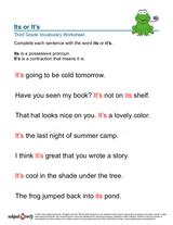 possessive pronoun/sheet 9