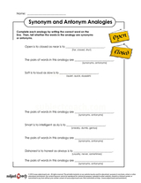 Similar And Oppossite Words/sheet 4