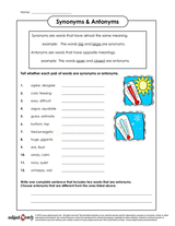 Synonyms/Sheet (8)