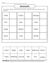 Synonyms/sheet 5
