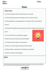 Physics Quiz/1