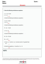 Simultaneous Equations/1