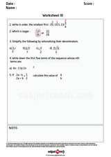 Worksheet I/1